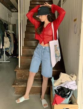 韓國空運 - Eco Wide Denim Half Pants 短褲