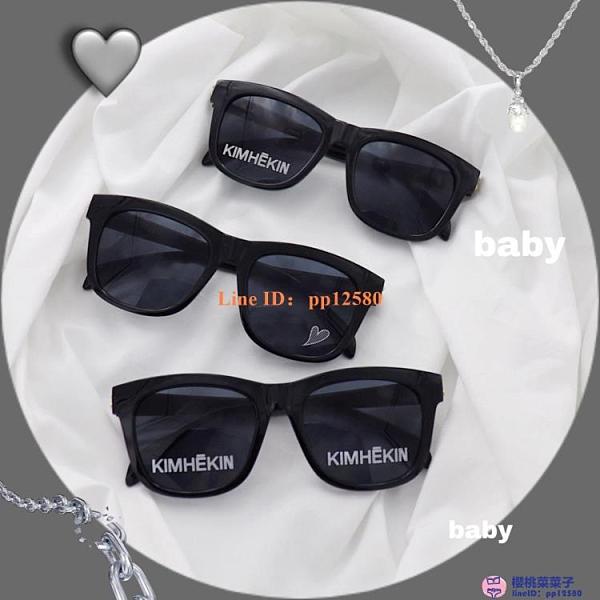 同款網美墨鏡韓版女潮流個性英文字母KIMHEKIN太陽眼鏡【櫻桃菜菜子】