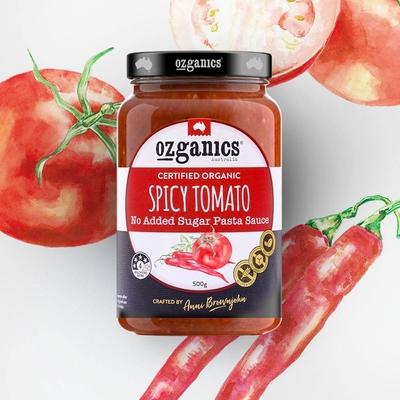 澳洲Ozganics 有機辣味義大利麵醬 500g