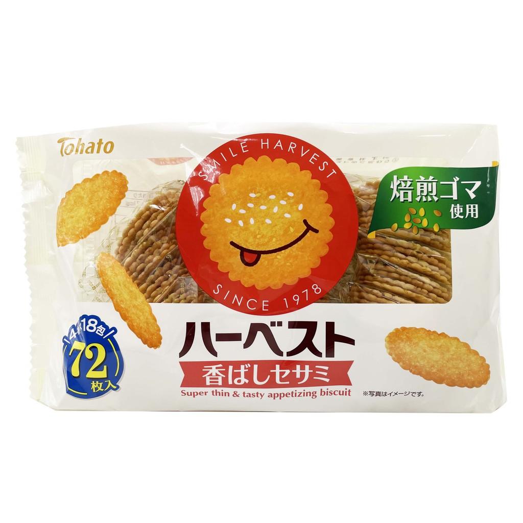 日本 東鳩 tohato 微笑芝麻餅 18包入 225g 芝麻餅 餅乾 零食