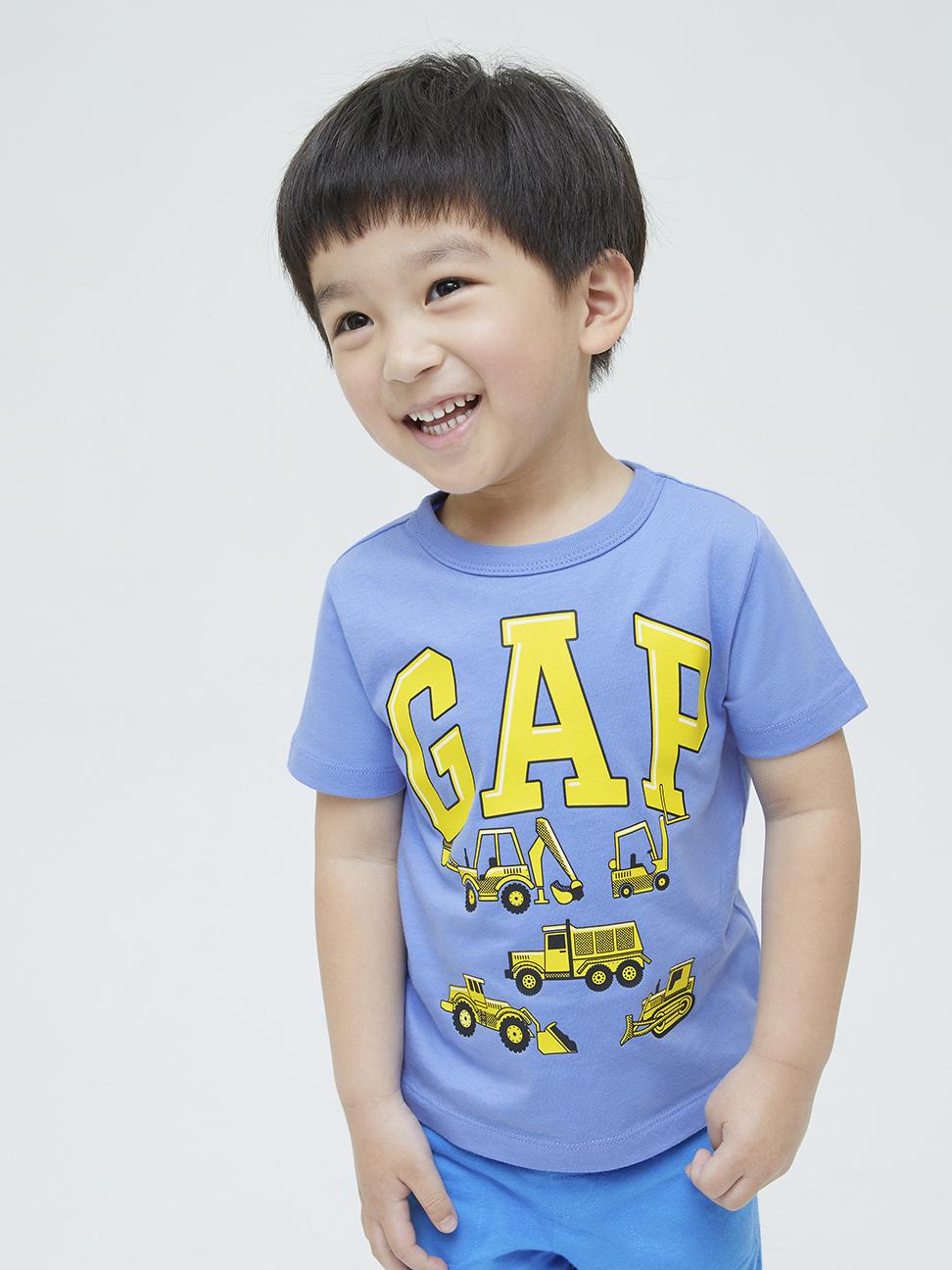 幼童 布萊納系列 Logo童趣印花純棉短袖T恤