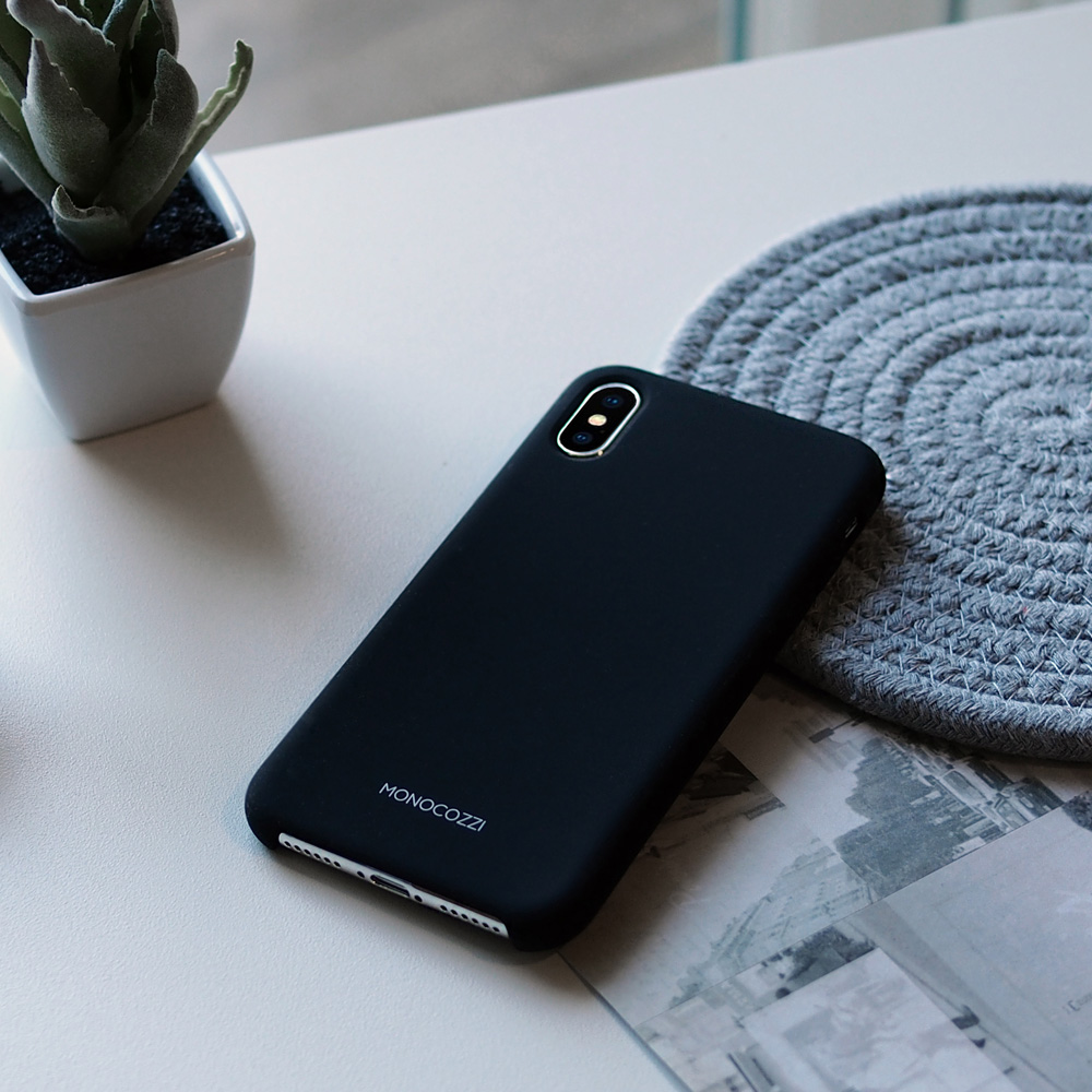 MONOCOZZI Gritty SoftTouch iPhone XS Max 液態矽膠防污保護殼 - 黑色