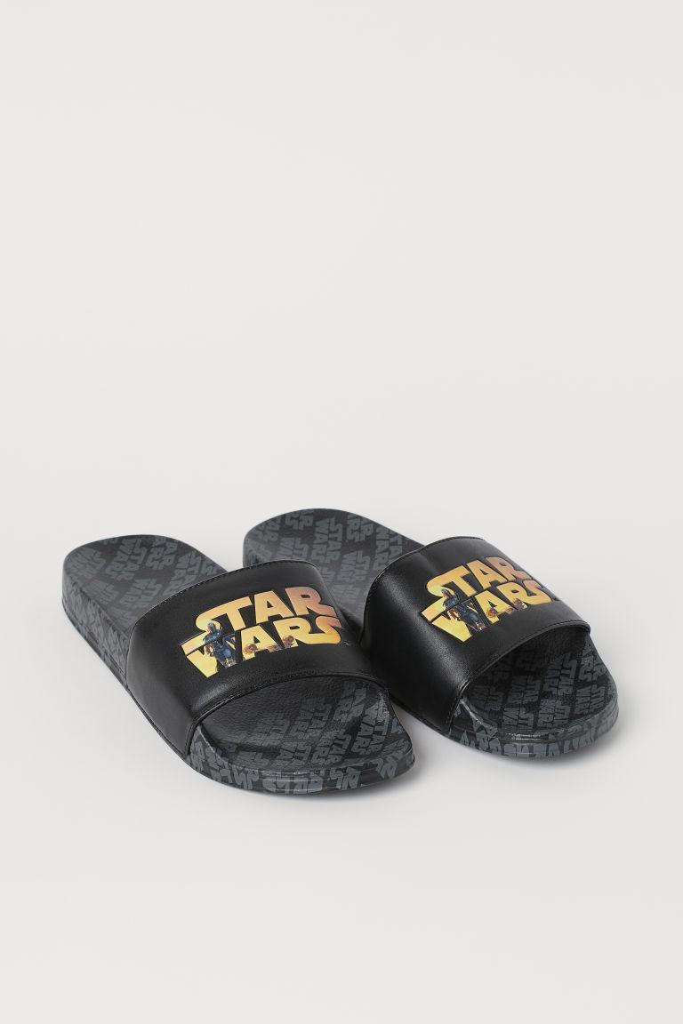 H & M - 圖案戲水鞋 - 黑色