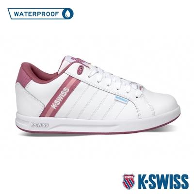K-SWISS Lundahl WP EM防水系列 時尚運動鞋-女-白/玫瑰粉