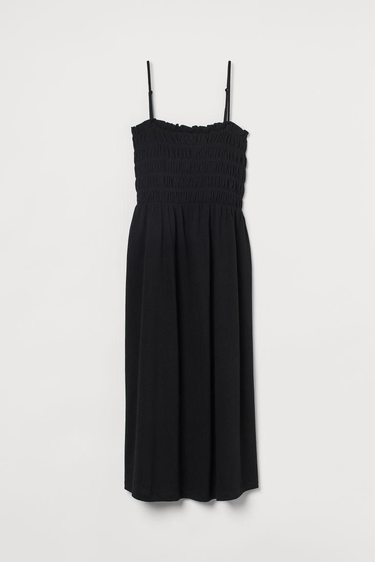 H & M - 縮褶細節洋裝 - 黑色