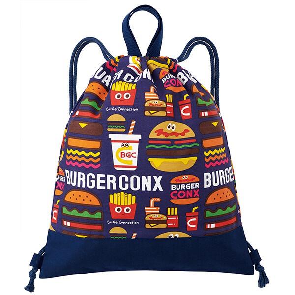 速食風 漢堡 薯條 可樂 恐龍 侏儸紀公園 大容量 束口背包 環保袋 購物袋 可摺疊 收納 後背包 - 富士通販