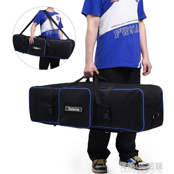 攝影燈架包加厚隔層相機三腳架便攜收納袋攝影補光燈支架燈架袋單反三角架收納包105 有緣生活館
