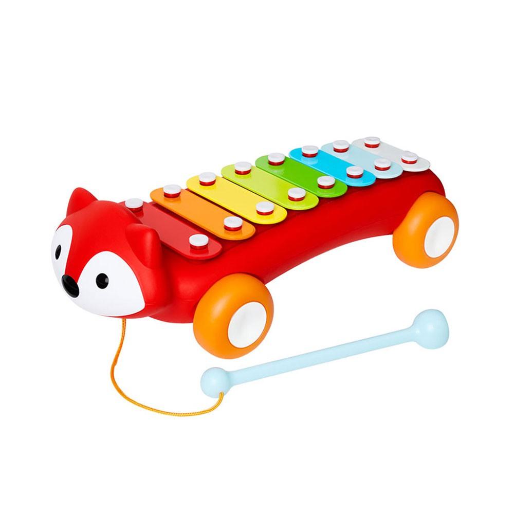 【美國Skip Hop】寶寶五感玩具-小狐狸寶寶鐵琴 寶寶玩具 寶寶樂器 打擊樂器(LAVIDA官方直營)