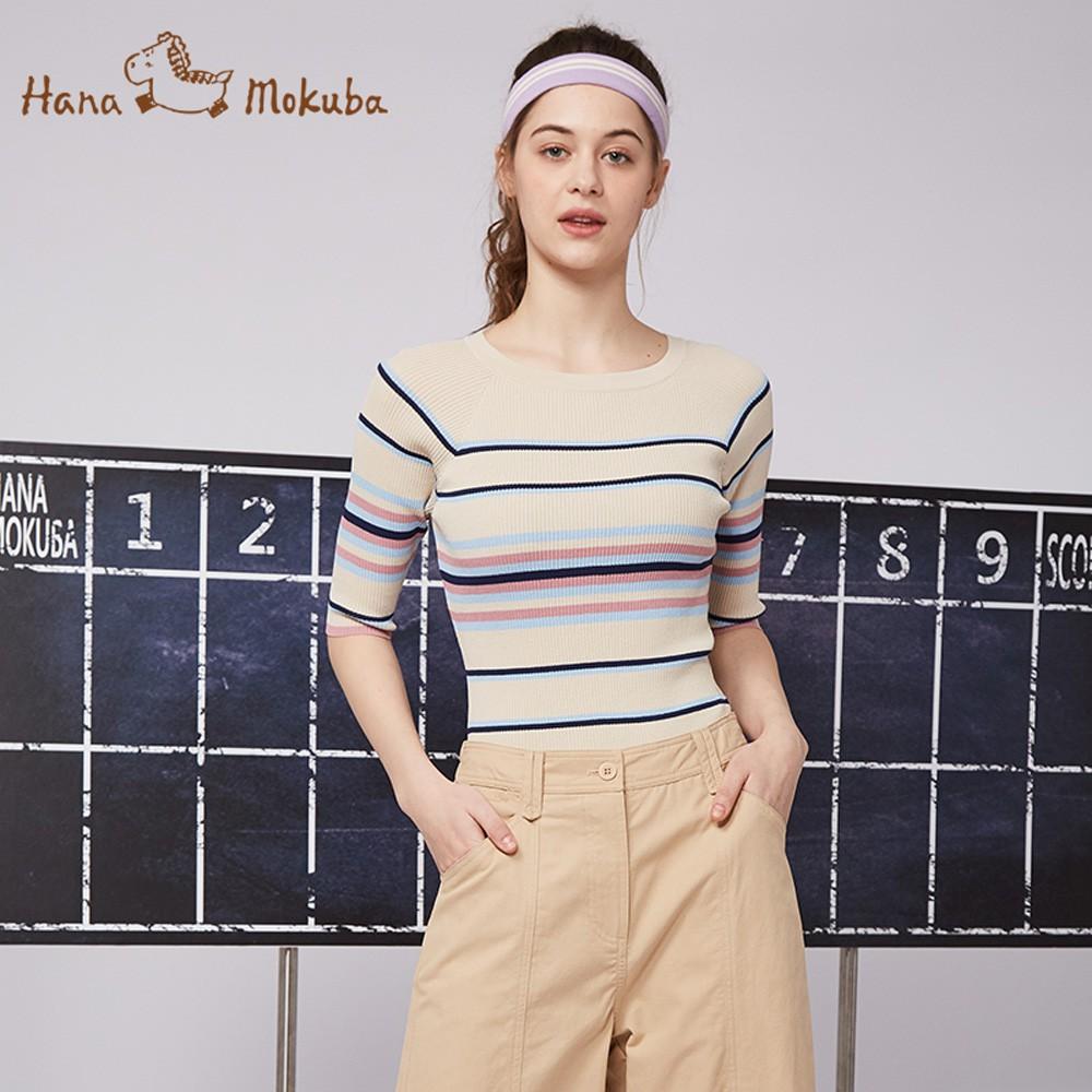 【Hana Mokuba】花木馬日系女裝條紋針織衫