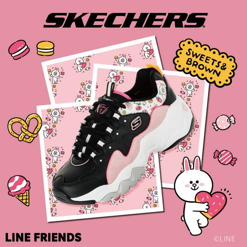 SKECHERS 女 D'LITES 3.0-LINE FRIENDS 兔兔限定款 - 66666255BKPK