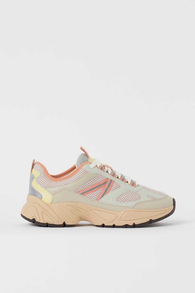 H & M - 網布運動鞋 - 米黃色