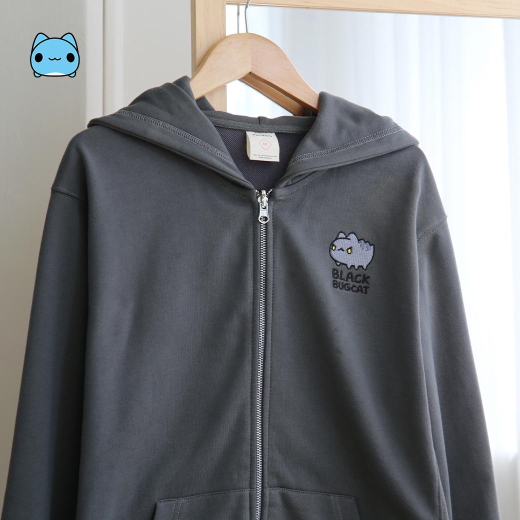 貓貓蟲咖波-黑貓蟲造型連帽外套L