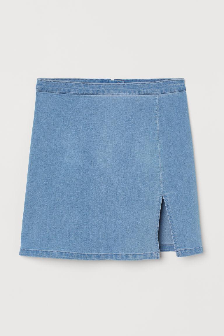 H & M - 丹寧牛仔裙 - 藍色