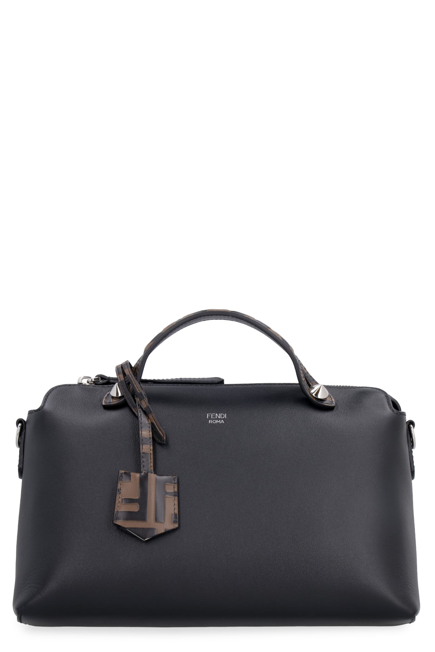 Fendi By The Way Leather Boston Bag