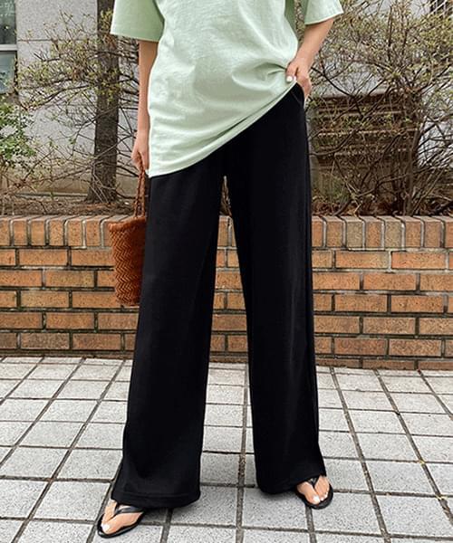 韓國空運 - Side Split Over Wide Banding Pants 長褲