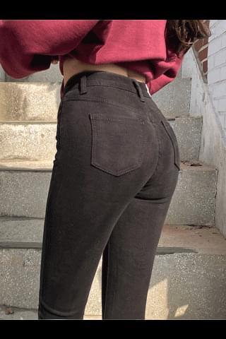 韓國空運 - Voluntary Fleece-lined warm days hajyu 牛仔褲