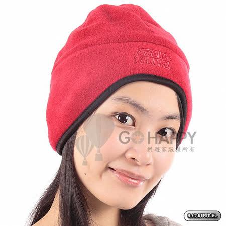 SNOWTRAVEL 雙層保暖遮耳帽(紅色)