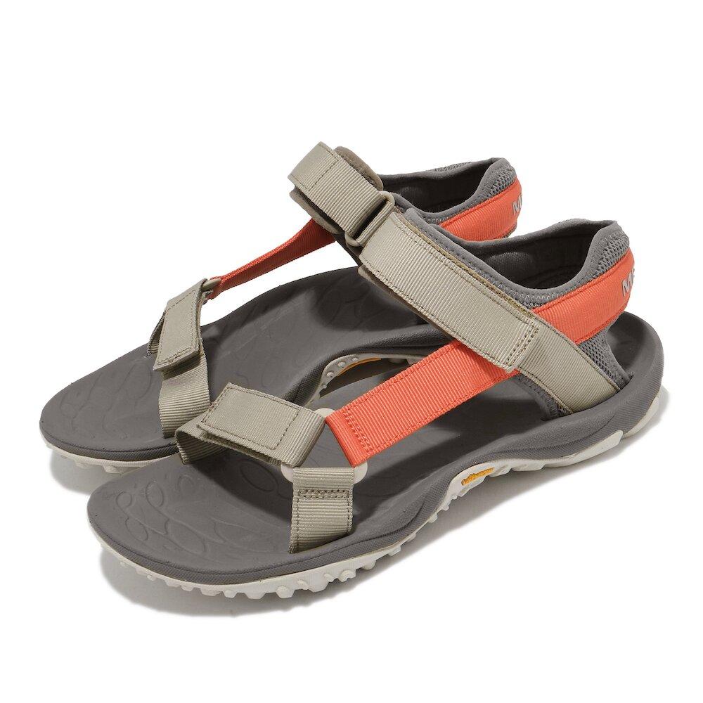 MERRELL 涼鞋 Kahuna Web 男鞋 織帶 避震墊片 穩定 舒適 灰 橘 [ML002585]