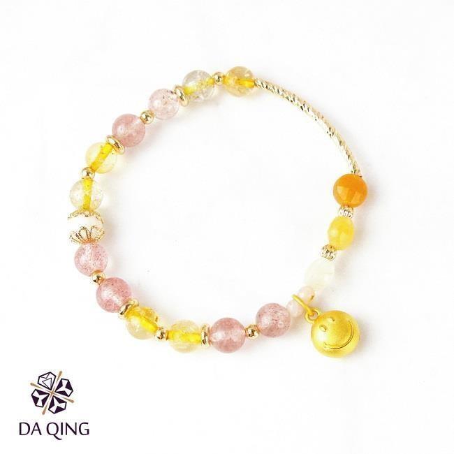 《大慶珠寶銀樓》純金黃金微笑手鍊-立體款