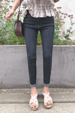 韓國空運 - Speech Short Skinny Jeans 牛仔褲