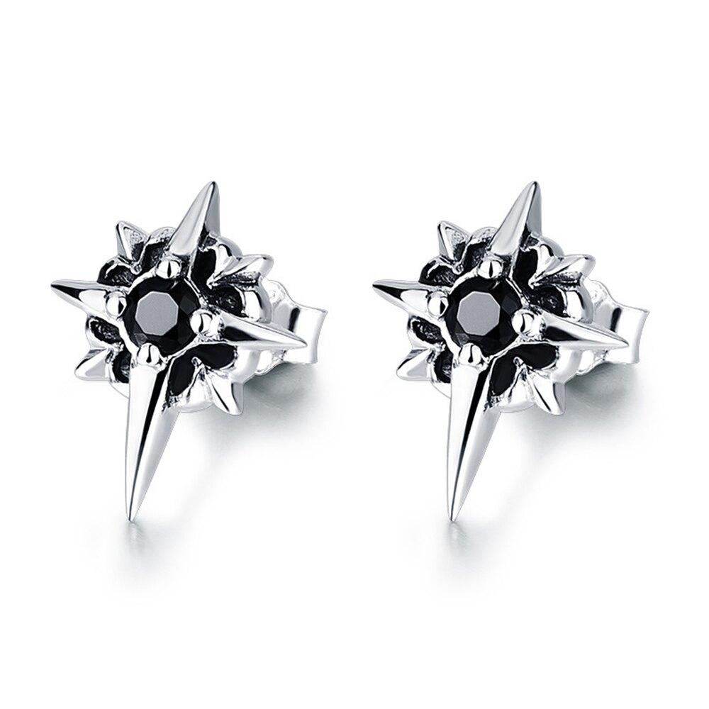 CPMAX 北極星黑鑽純銀耳環 925純銀耳釘男 個性 簡約 復古 耳環男 純銀耳環 銀飾耳環 耳釘 飾品 耳飾 G27