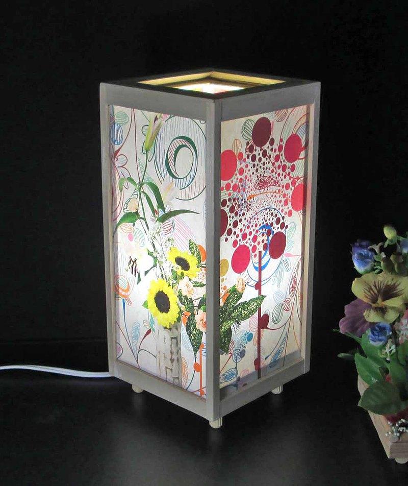Tengi未縫製的花瓣夢幻枕頭LED,白色柏木框架結構神秘的光芒!