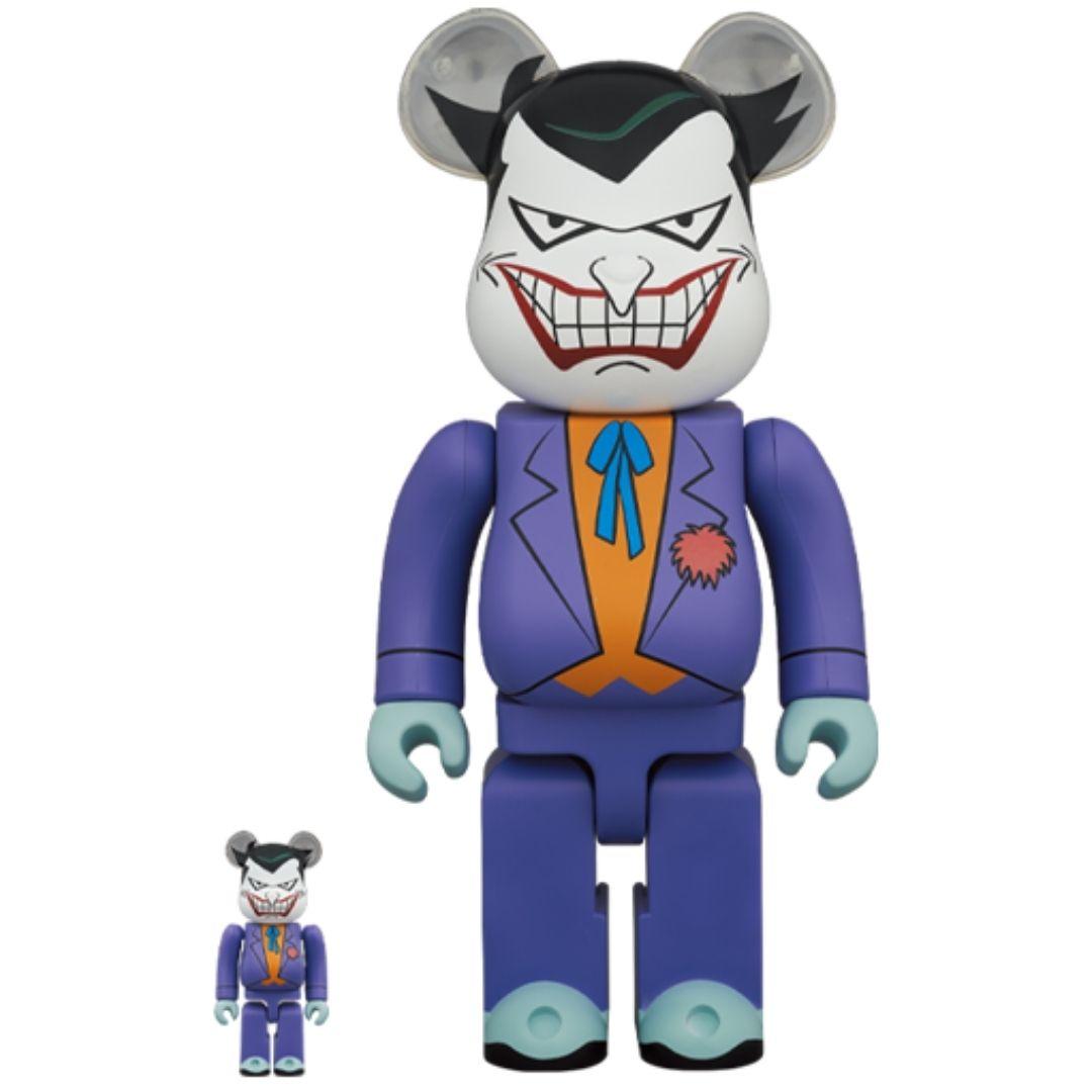 BE@RBRICK THE JOKER 動畫版 小丑 (BATMAN The Animated Series Ver.) 400%+100%