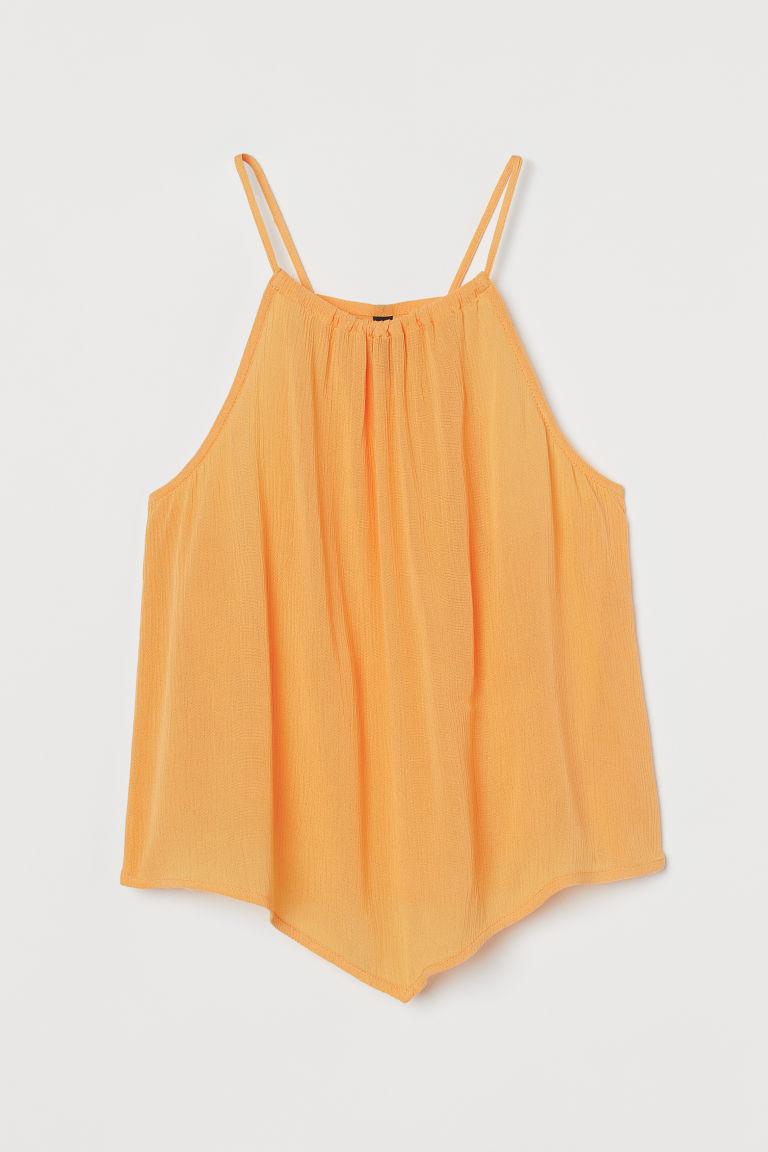 H & M - 不對稱上衣 - 黃色