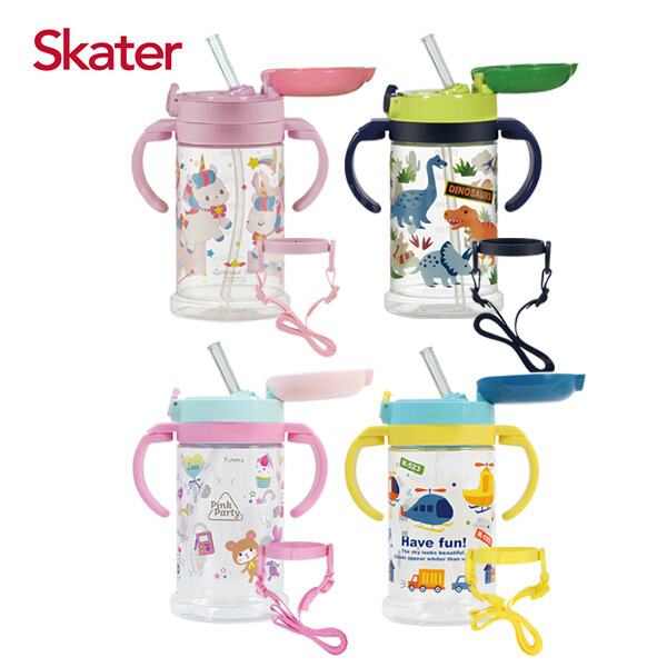 skater 寬底吸管杯(370ml)-4款可選佳兒園婦幼生活館