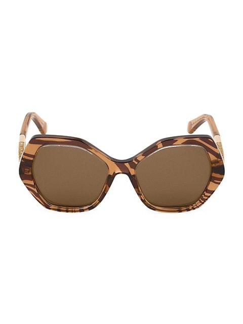 57MM Geometric Sunglasses