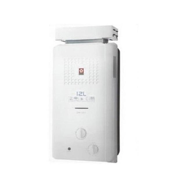 【南紡購物中心】櫻花【GH-1221N】櫻花12公升ABS抗風型防空燒熱水器