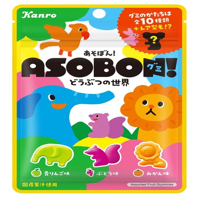 日本甘樂ASOBON軟糖-動物世界  52g