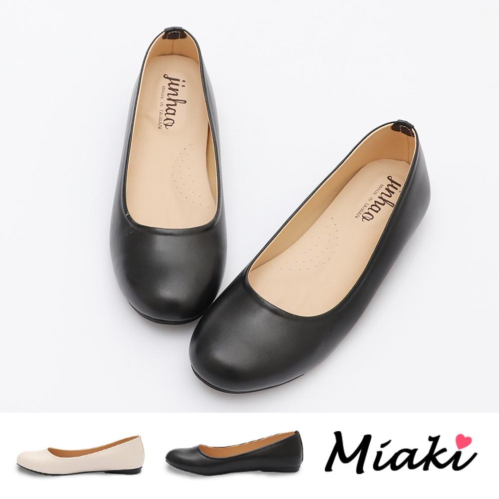 娃娃鞋.韓風圓頭軟墊低跟包鞋