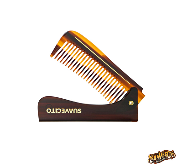 Suavecito Deluxe Folding Handle Comb琥珀板料可折柄梳