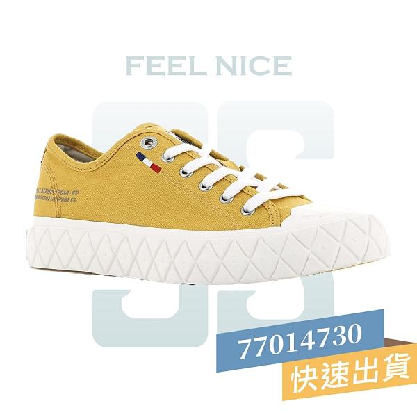 PALLADIUM PALLA ACE CVS 黃 男女款 低筒 黃底 帆布 休閒 鬆餅鞋 77014730