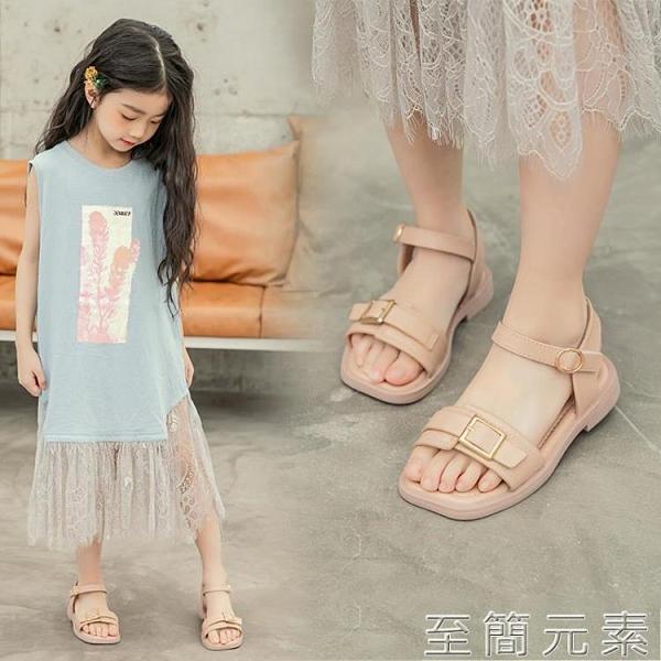 兒童涼鞋女夏季新款女童鞋子時尚休閒軟底涼鞋學生休閒女涼鞋 至簡元素