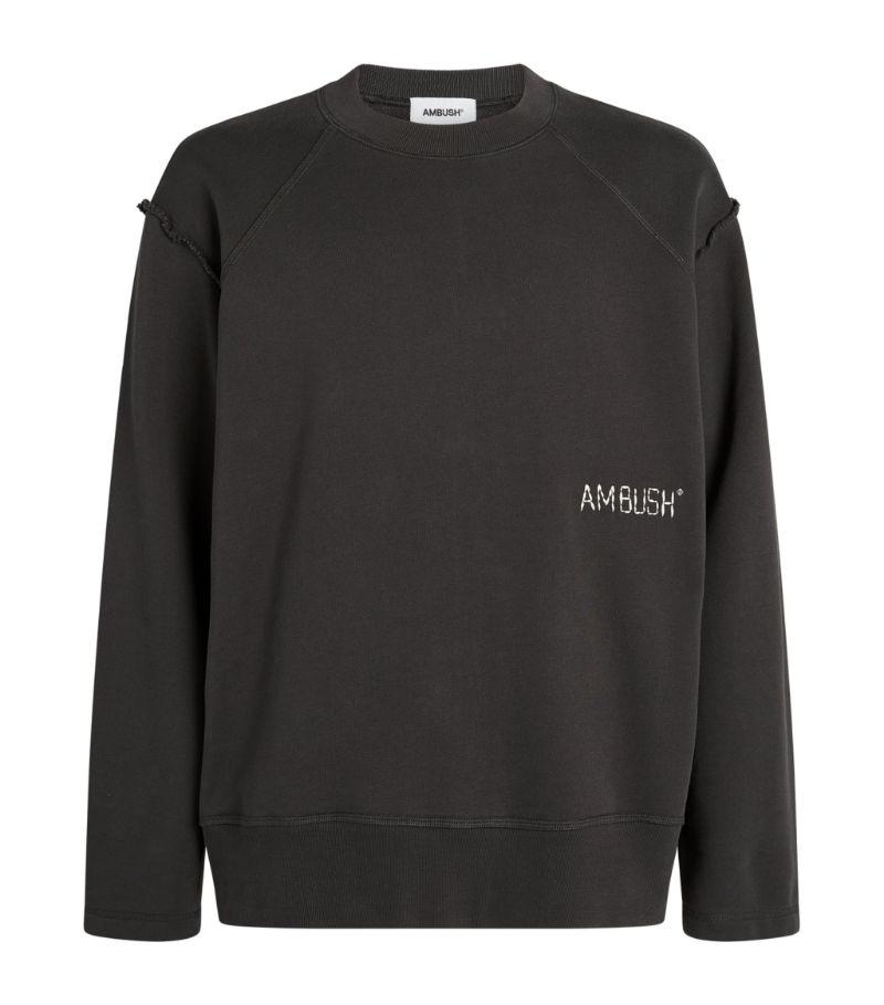 Ambush Cotton Raw-Edge Sweatshirt