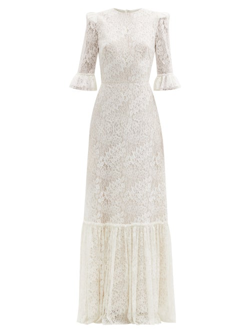 The Vampire's Wife - Aurora Floral Leavers-lace Dress - Womens - Ivory