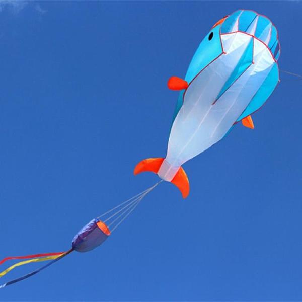 2021新款大型軟體風箏微風易飛成人兒童3d立體高檔海豚軟體風箏ATF 格蘭小鋪