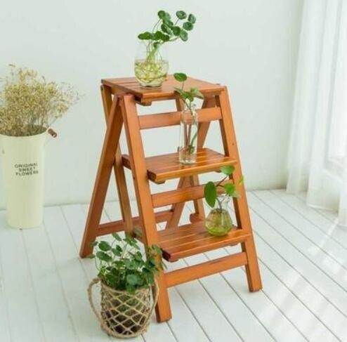 梯子家用折疊多功能加厚室內兩用登高梯實木三步人字梯凳爬梯步梯 快速出貨