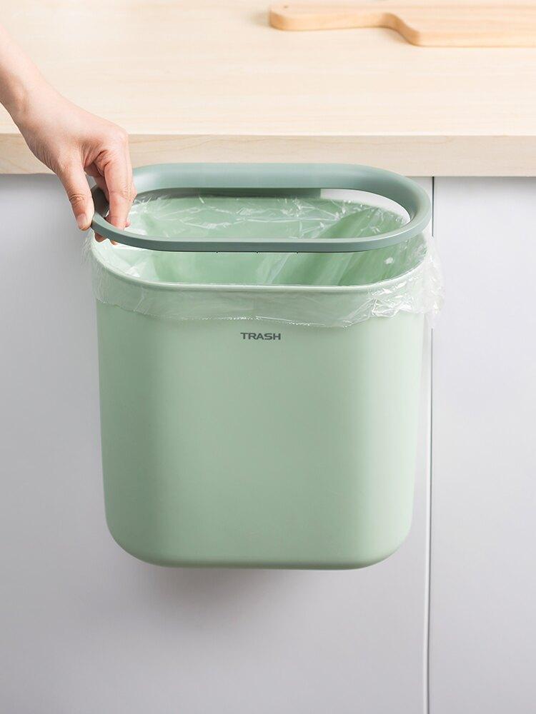 onlycook 廚房廚余垃圾掛式垃圾桶 創意家用櫥柜壁掛收納桶衛生桶