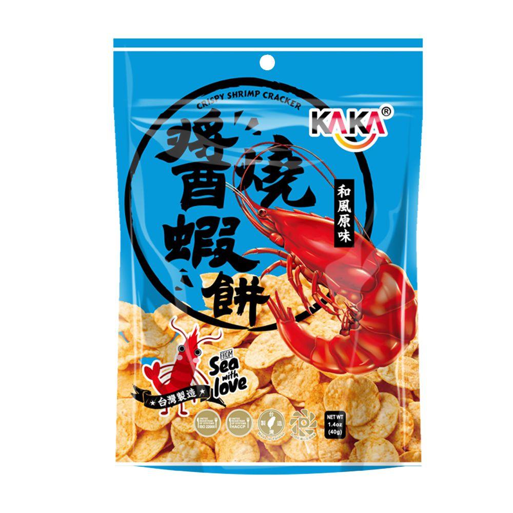 點數15%★食品飲料滿千–KAKA醬燒蝦餅(和風原味) 【康是美】