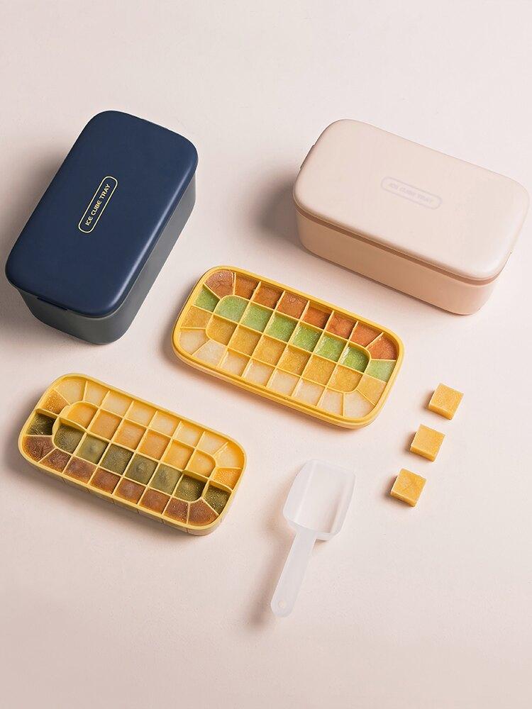 onlycook家用硅膠冰格自制制冰盒制作冰塊神器凍冰球冰箱模具帶蓋