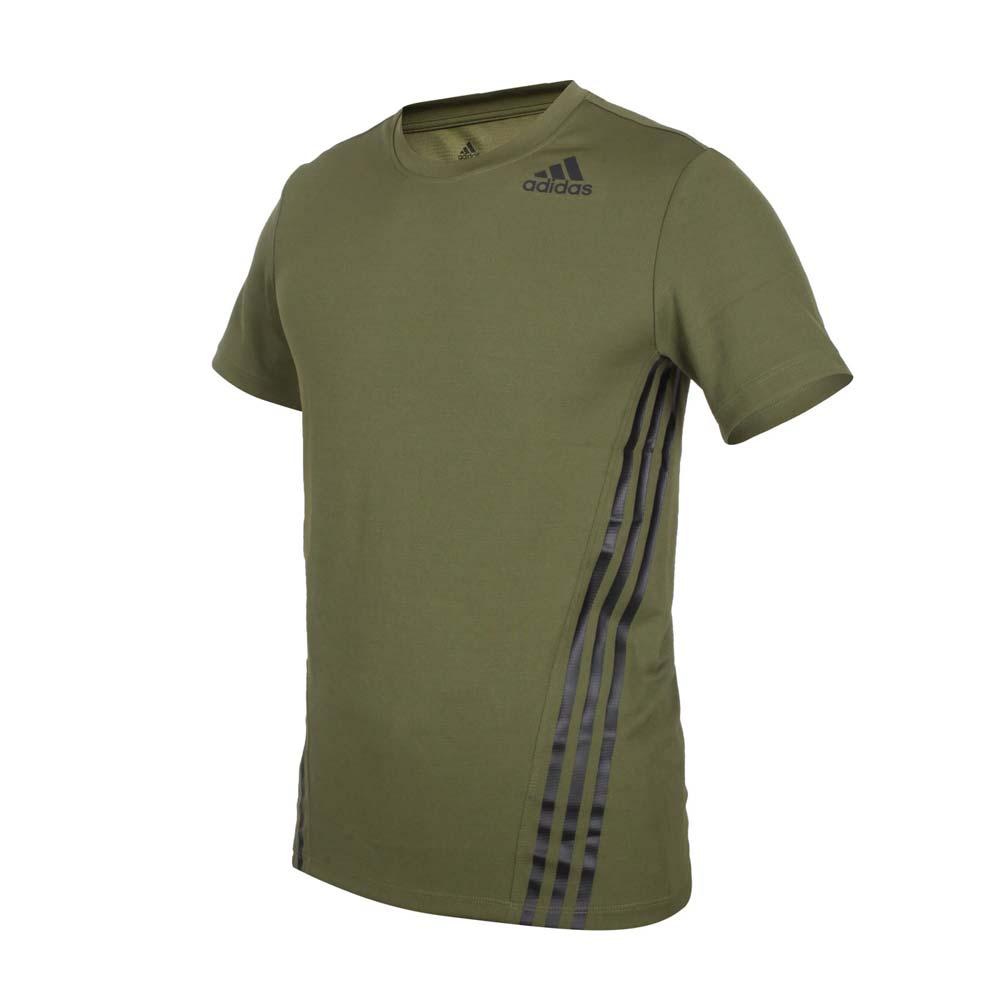 ADIDAS 男短袖T恤-亞規 吸濕排汗 慢跑 路跑 愛迪達 上衣 軍綠黑