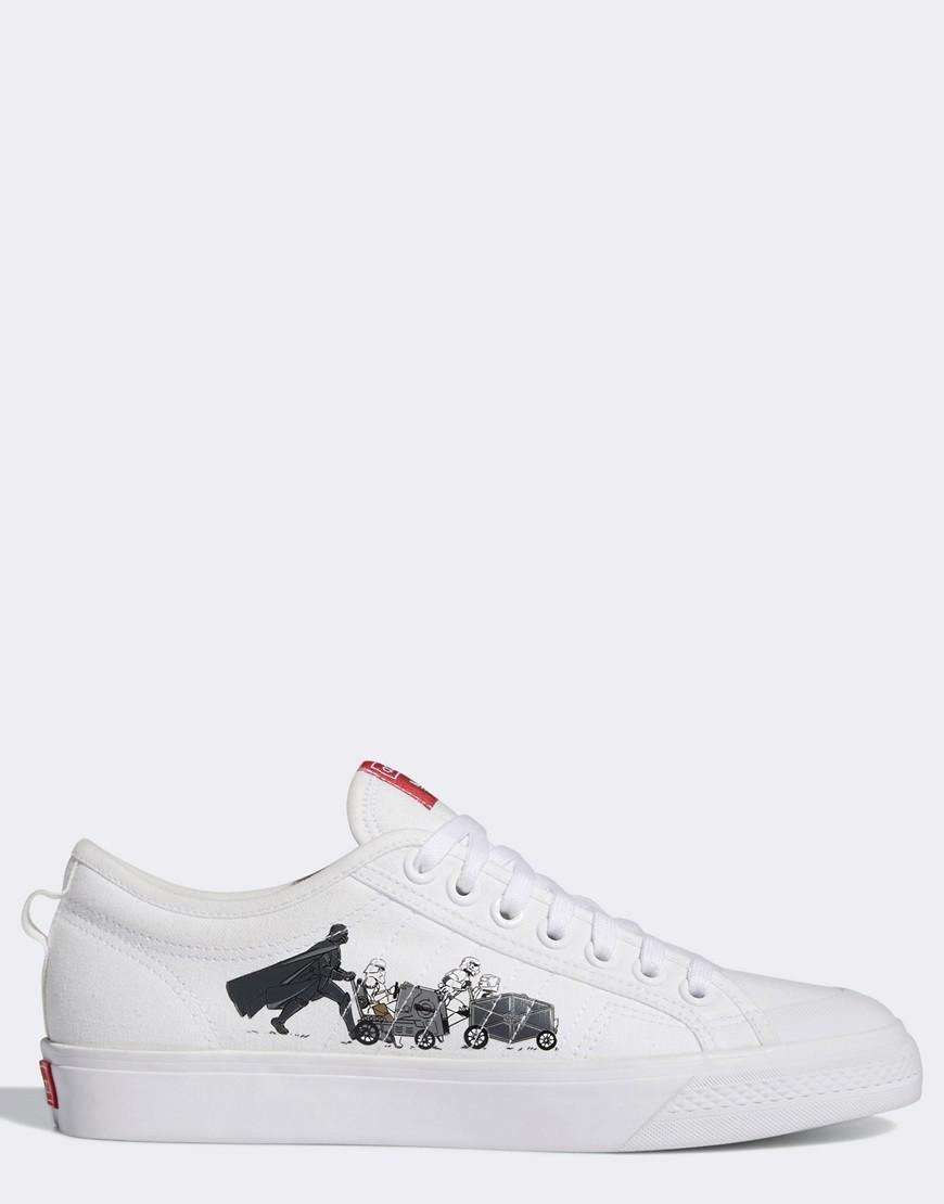 adidas Originals Nizza x Star Wars trainers in white