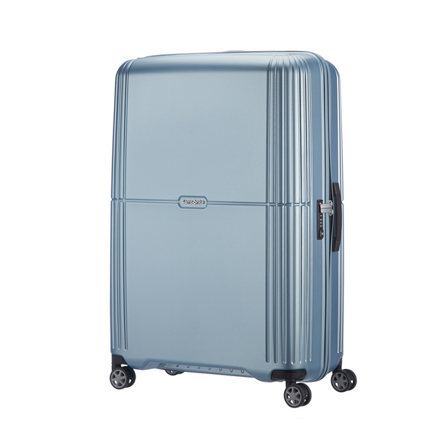 Samsonite新秀麗 28吋Orfeo 簡約方正線條PC嵌入式TSA海關鎖行李箱(銀藍)