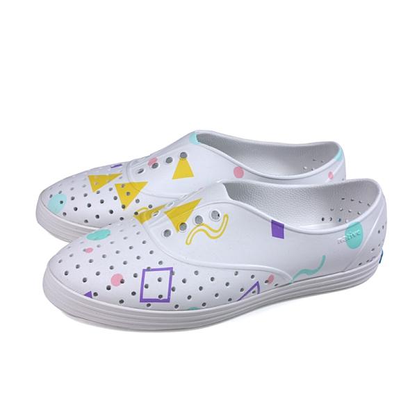 native 休閒鞋 洞洞鞋 白色 圖案 男女鞋 11300401-1977 no033