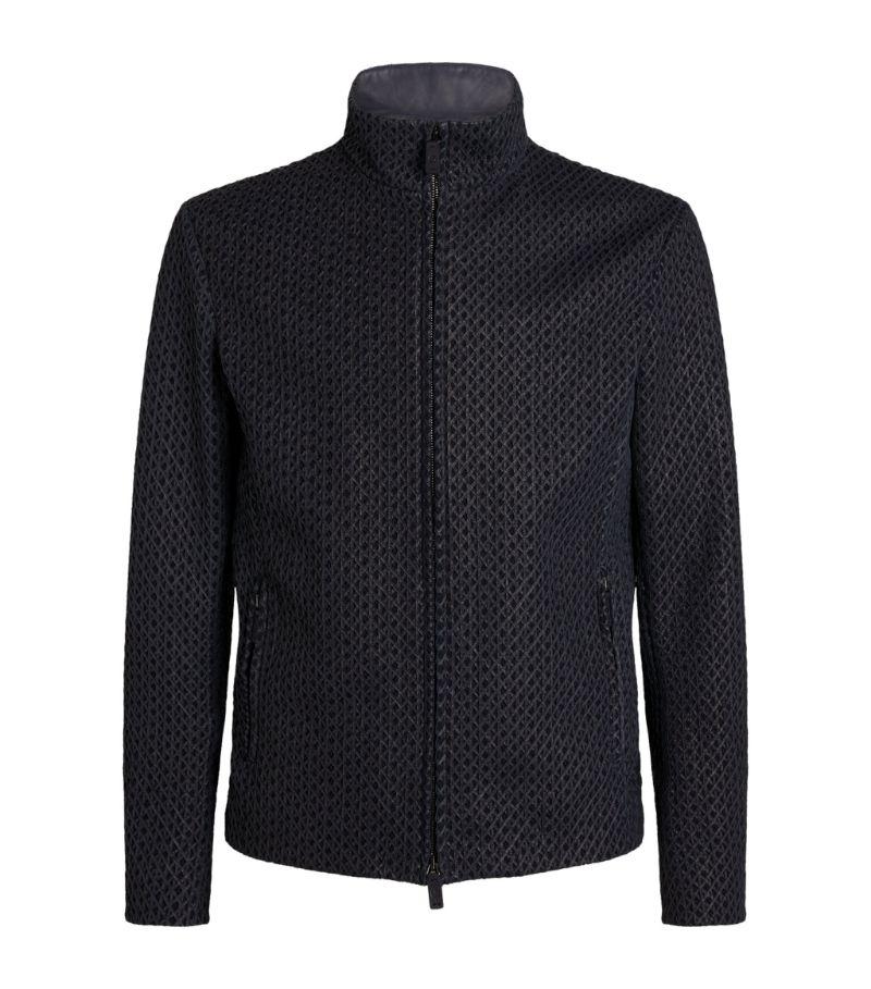 Giorgio Armani Woven Zip-Up Jacket