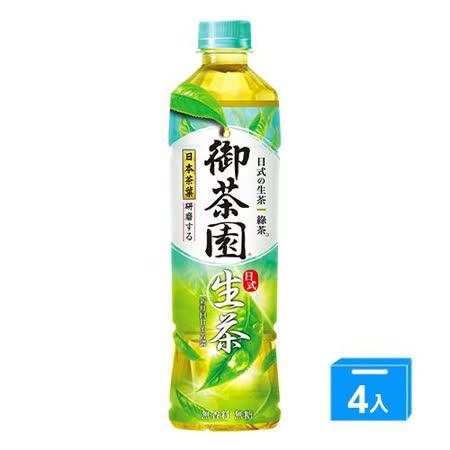 御茶園日式生茶550MLx4