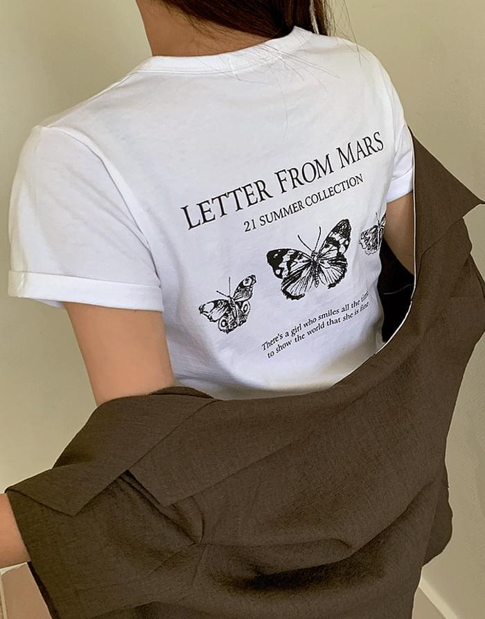 韓國空運 - Butterfly T-shirt 短袖上衣